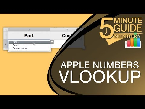 [How To] Change the Value of a Cell Based on another Cell Using VLOOKUP in Apple Numbers
