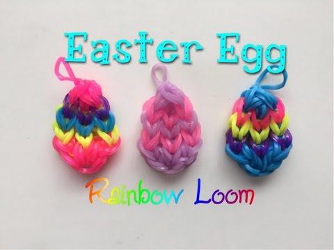 EASY Rainbow Loom Easter Egg Charm