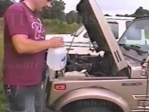 Water Powered Car!!   Suzuki Samurai Runs on 100% Water [witts.ws]