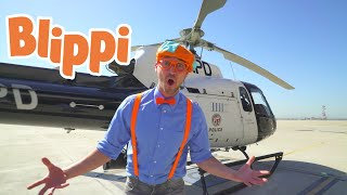 Blippi Explores A Police Helicopter | Airplanes For Kids | 1 Hour Of Blippi