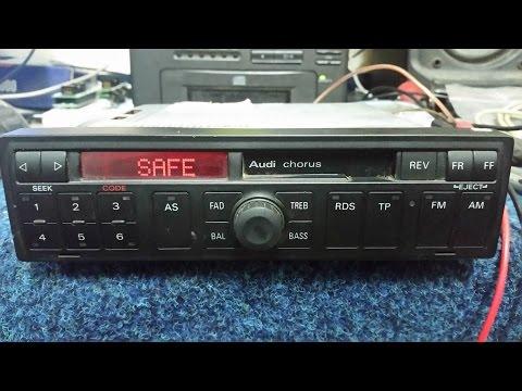 Audi chorus radio BLAUPUNKT AUZ1Z2 unlock code