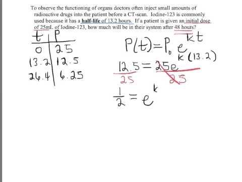 Math 122 half life application