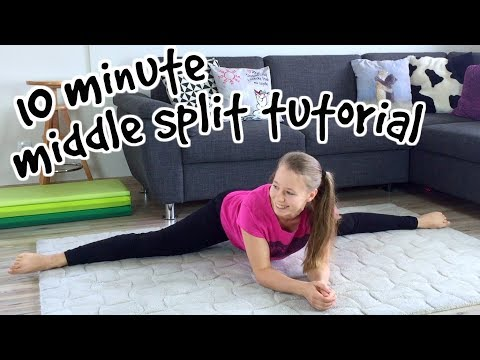 MIDDLE SPLIT TUTORIAL // 10 minutes of BEST STRETCHES