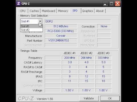 Find system information like CPU, Bus speed, RAM modules, Cache memory.avi