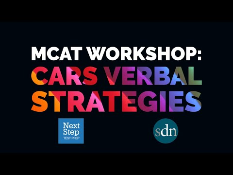 CARS  Verbal Strategies for the Revised MCAT