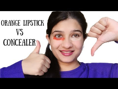Using Lipstick To Hide Dark Circles - Does This Work? | Hide Dark Circles With Concealer or Lipstick