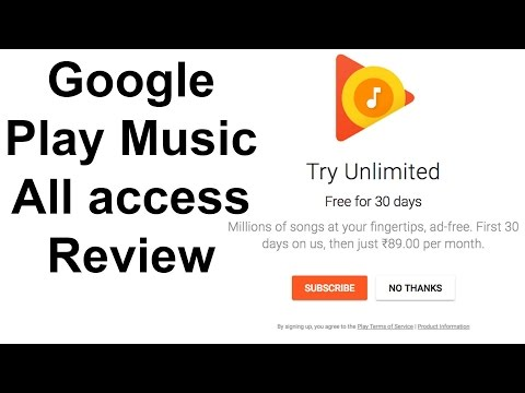 Google Play Music All access Review - How to get started with the free subscription in India