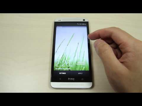How to change the home screen and lock screen wallpaper on HTC One 801e M7