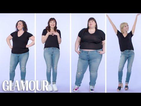 Xxx Mp4 Women Sizes 0 Through 28 Try On The Same Skinny Jeans Glamour 3gp Sex