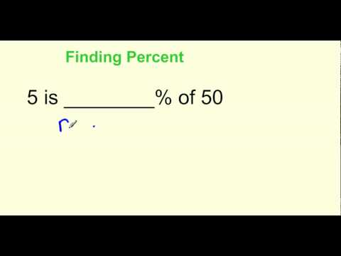 Finding Percent Tutorial