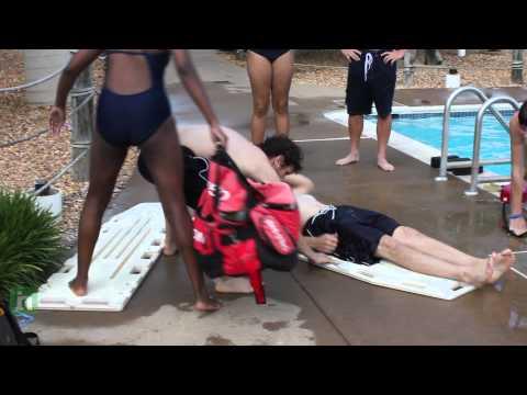Lifeguard training exercise at SplashDown Waterpark near Manassas