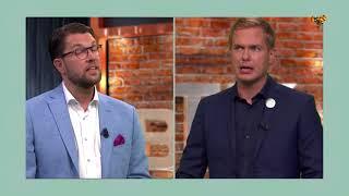 Bara Politik 29 augusti: Se hela duellen mellan Åkesson och Fridolin