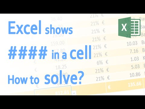Excel shows #### in a Cell. How to solve this?