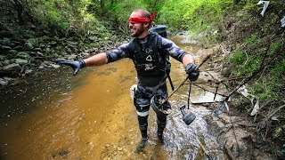 Blindfolded River Treasure Challenge!!!! (extremely funny)