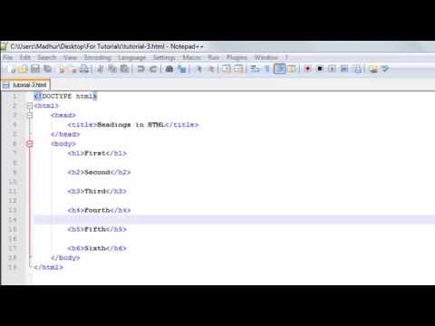 HTML Tutorial - 3: Headings
