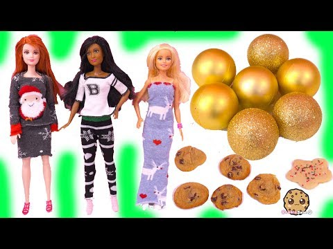 Barbie DIY Sock Christmas Clothing ! Dollar Tree Haul Easy Gift Crafts Video