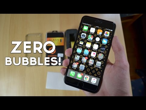 How to Apply Any Screen Protector Without Bubbles! (iPhone 7 Plus)