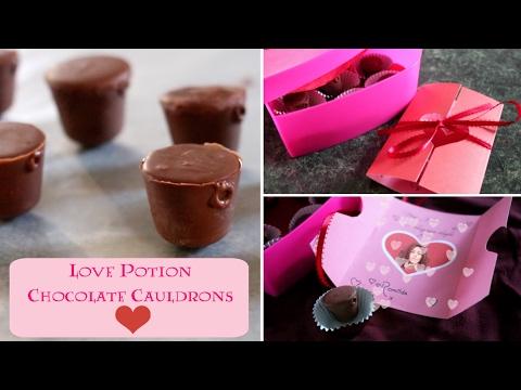 DIY Love Potion Chocolate Cauldrons!