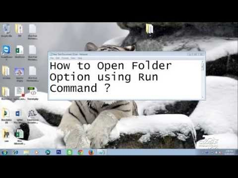 How to open folder options using run command