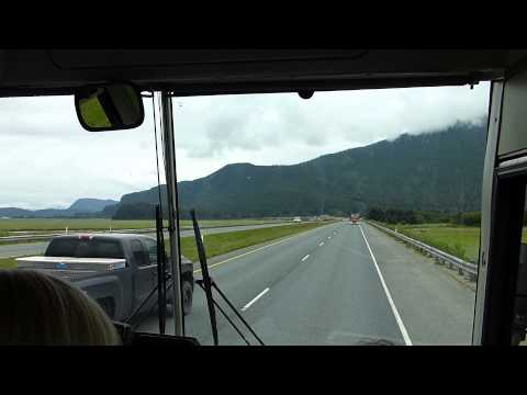 Full Drive to Mendenhall Glacier  - Juneau - Peggy's Bus Tour - 10th July 2014