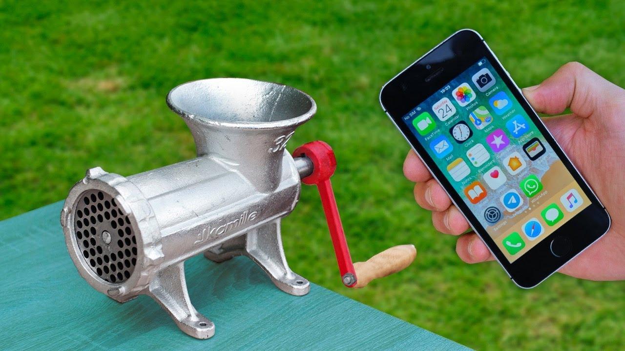 Meat Grinder VS Iphone | Best Phone Tests