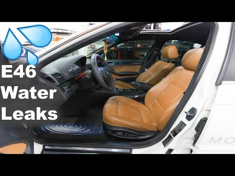 MOST COMMON INTERIOR WATER LEAKS IN BMW! + DIAGNOSING