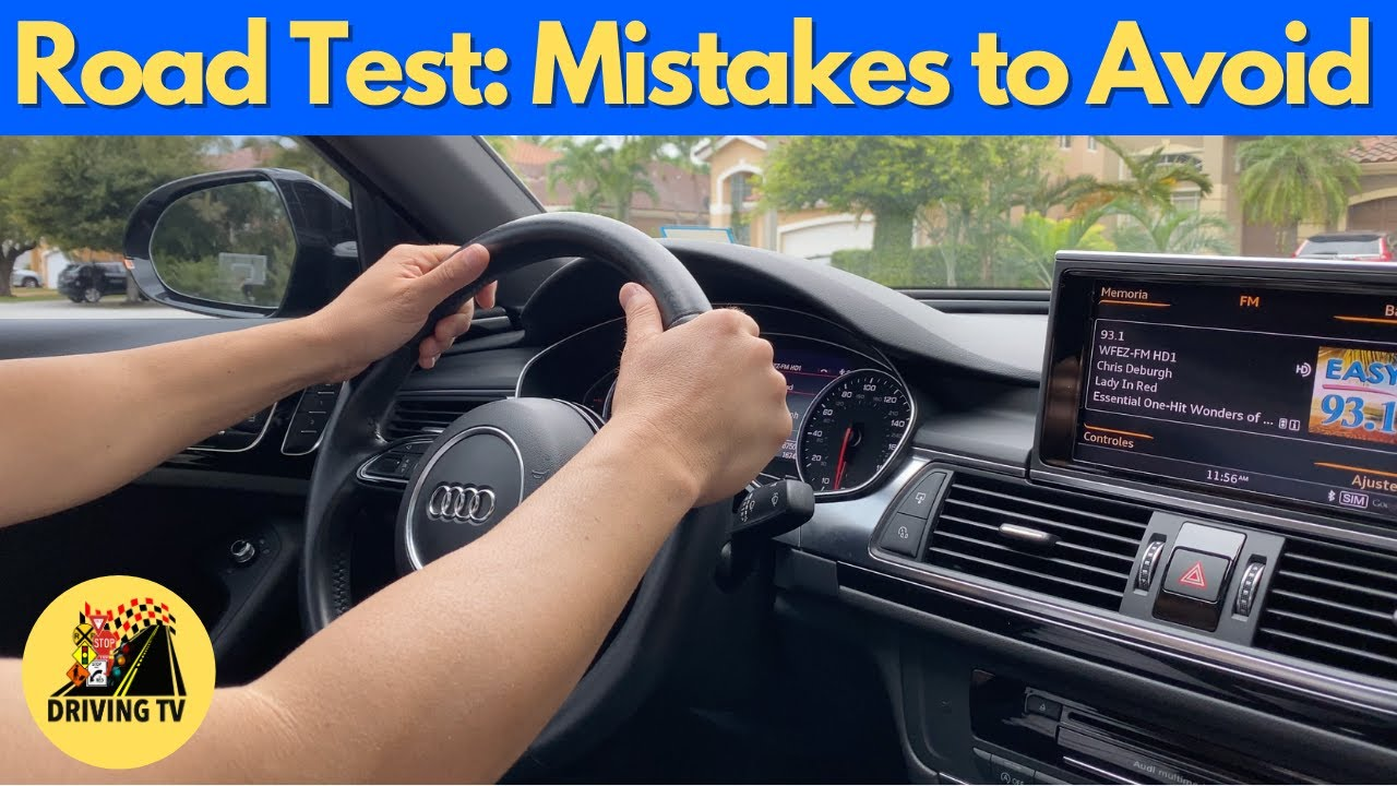 MOST COMMON MISTAKES TO AVOID ON THE DRIVING TEST