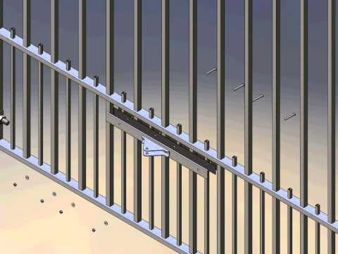 Tek Gate & Fence Double driveway gate auto animation