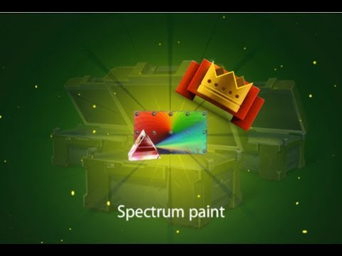 Tanki Online - SPECTRUM PAINT!   x10 Containers Opening    Weekend Giveaway