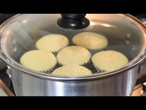 How to make Cupcake without oven and Microwave - Vanilla cupcake in pot by (HUMA IN THE KITCHEN)