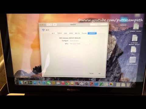 How to find the MAC Address for WIFI in MACBOOK PRO!