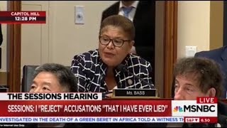 "Rep. Bass Grills AG Sessions On ""Black Extremism"" and Black Lives Matter"