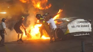 Dad Runs onto Virginia NASCAR Track to Save Son from Fire