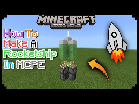 HOW TO MAKE A ROCKETSHIP IN MCPE 1.2.2.3/1.2./1.1 | MCPE CREATION | NO MODS