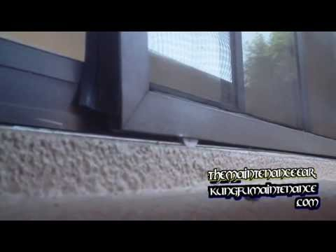 How To Remove Replace Plus Install Patio Slider Screen Door Tension Wheels