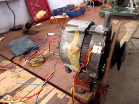 home made speed controller BLDC ALTERNATOR MOTOR TESTING