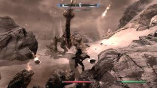 Skyrim How To Beat Alduin Dragon Boss Gameplay Commentary Turtorial