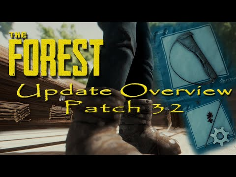 The Forest Update Overview V032 Fur Boots Quiver Poison Arrows Door L