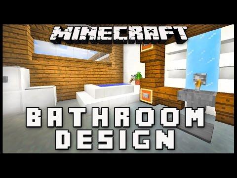 Minecraft: How To Make A Modern Bathroom Design  ( House Build Ep. 17)