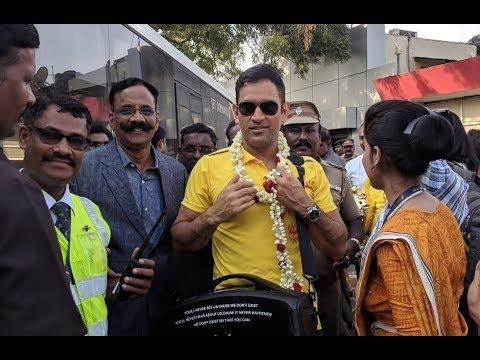 Chennai welcomes Dhoni & CSK team | IPL 2018
