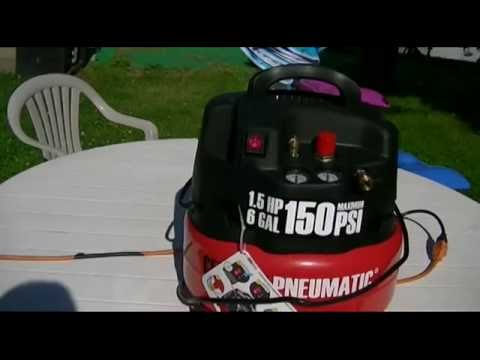Harbor Freight - Central Pneumatic 6 Gallon Professional Oilless Air Compressor Review