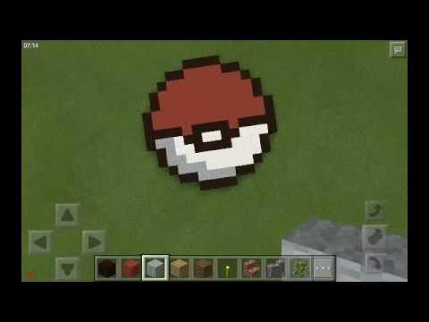 Minecraft PE Tutorial || How to Build a Pokéball!