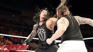 Roman Reigns, Randy orton,Dean Ambrose Vs The Wyatt Family (5 october 2015)
