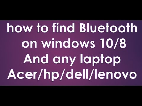 how to find bluetooth on windows 10