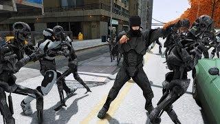 ROBOCOP VS TERMINATOR - EPIC BATTLE - Grand Theft Auto