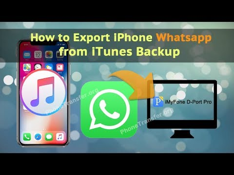 How to Export iPhone Whatsapp from iTunes Backup