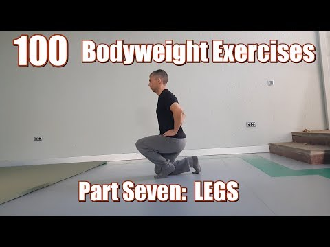 100 BODYWEIGHT EXERCISES (NO GYM REQUIRED) | LEGS