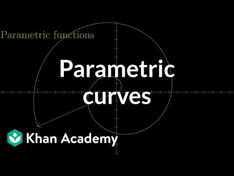 Parametric curves   Multivariable calculus   Khan Academy
