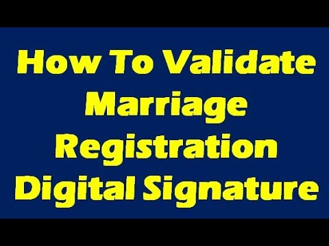 How to Validate Digital Certificate For Marriage Registration Certificate In India