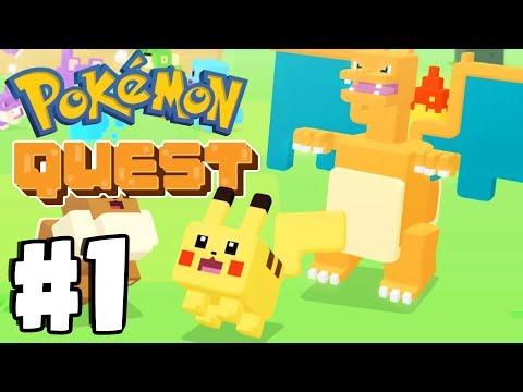 New FREE Mobile Pokemon Game! Pokemon Quest Gameplay Walkthrough Part 1 (Switch, IOS, Android)